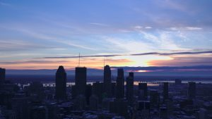 Background: Montreal Sunrise, Dec 25, 2017